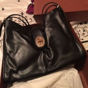 COACH Madison Carlyle Leather Shoulder Bag